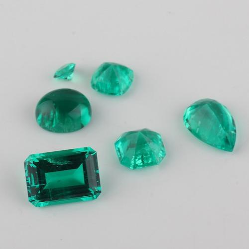 哥伦比亚祖母绿 天然成份实验室合成祖母绿 水热法再生绿宝石裸石